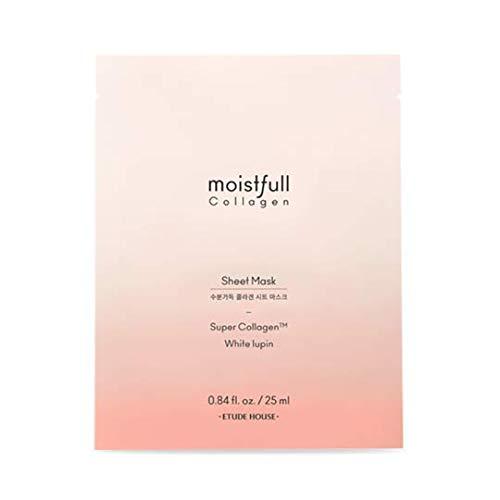 ETUDE HOUSE Moistfull Collagen Sheet Mask [10pcs SET] | Super Collagen for Deep Moisture and Healthier Skin | Korean Skin Care