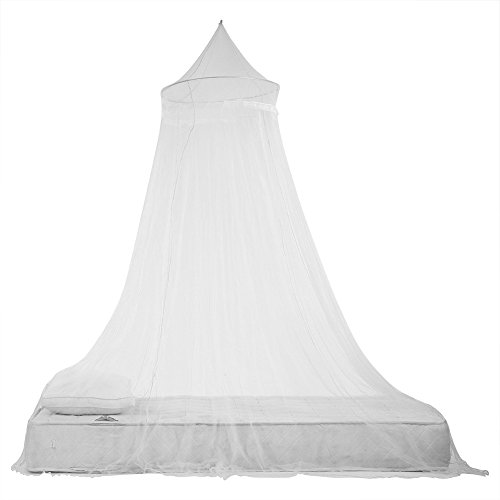 Biancheria da letto elegante della zanzariera della tenda del baldacchino del letto dei bambini di principessa del pizzo per la lettiera della stanza delle ragazze(White)