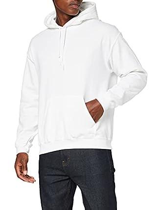 Gildan Heavyweight Hooded Sweatshirt Sudadera con Capucha, Blanco, L para Hombre