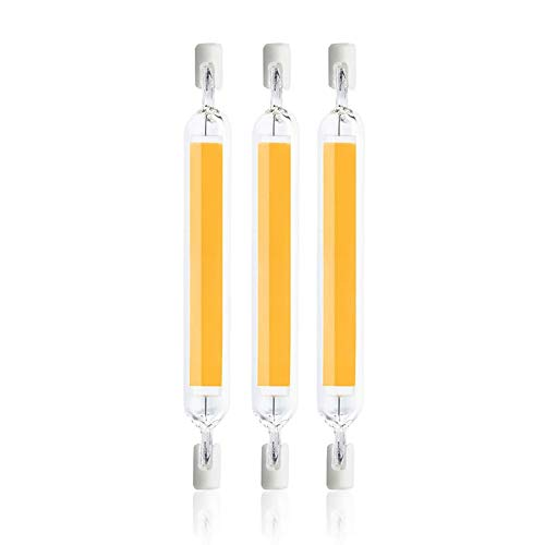 WXYC Lampadine LED R7S 78mm 118mm, 230V Sostituisci 50W 100W 200W Lampada alogena, Proiettore con Base a Doppia estremità Luce lineare 360 ° Angolo del Fascio dimmerabile,Natural White,20W 118MM 3PCS
