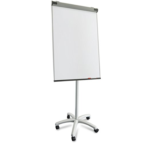 Master of Boards® Profi Flipchart mit Rollenfuß | mobil und vielseitig | ausklappbare Papierhalter | Whiteboard mit Ständer | verstellbar