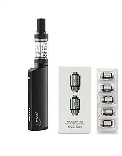 ✅100% AUTHENTIQUE✅ cigarette électronique justfog q16 kit complet + 5 résistances justfog 1.6ohm le produit ne contient pas de nicotine ni de tabac (Q16 KIT + 5 Résistances)