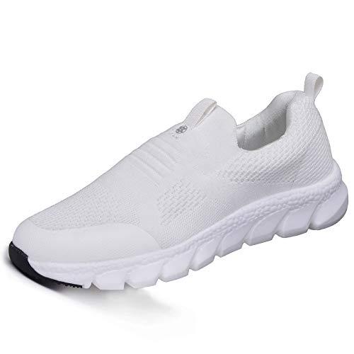 Damen Sneaker mit Keilabsatz Bequeme Plateau Freizeitschuhe Frauen Fitness Sportschuhe Mode Laufschuhe Leicht Turnschuhe Beige D 36.5EU=Etikettengröße:37
