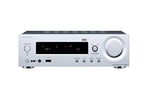 Onkyo R-N855-S Stereo Netzwerk-Receiver (70 Watt pro Kanal, USB, Chromecast, Bluetooth, AirPlay, DLNA, FlareConnect) Silber