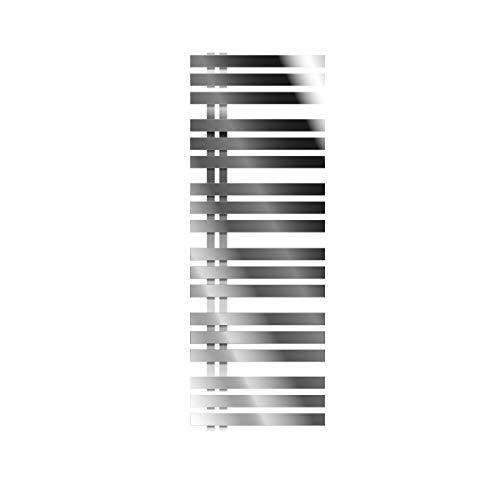 ECD Germany Iron EM Designheizkörper - 500 x 1400 mm - Chrom - Paneelheizkörper Heizkörper Handtuchwärmer Handtuchtrockner Designheizkörper Badheizkörper