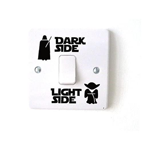 Froiny Interruttore della Luce Dark Side Adesivi Divertente Vinile Interruttore della Decalcomania degli Autoadesivi