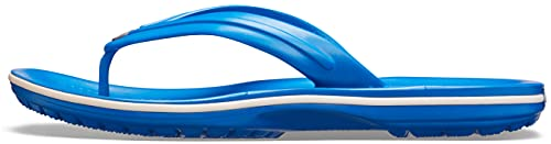 Crocs Unisex Crocband Flip, Bright Cobalt/White, 43/44 EU