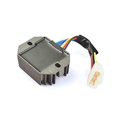 Regulador de voltaje Rectificador de la motocicleta Ignición de la motocicleta para Kubota y para el saltamontes RS5101 RS5155 6 Cable de metal negro DC 12V Accesorios Reguladores y rectificadores de
