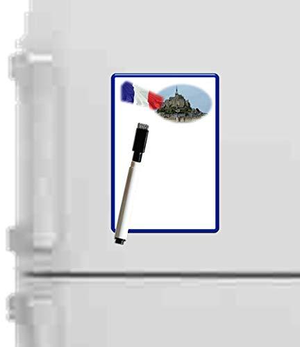 Pizarra magnética para nevera borrable, 15 x 10 cm, con rotulador borrable magnético, lista para hacer y pensar en la bestia.