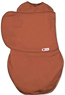 embé 2-Way Starter Swaddle Blanket, 6-14 lbs, Diaper Change w/o Unswaddling, Legs in and Out Design, Warm Up or Cool Down ...