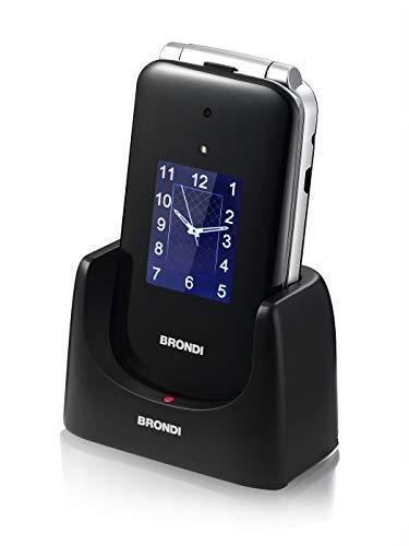 Brondi Amico Ampli Vox, Telefono cellulare GSM per anziani con tasti grandi, tasto SOS e funzione da remoto, dual SIM, volume alto