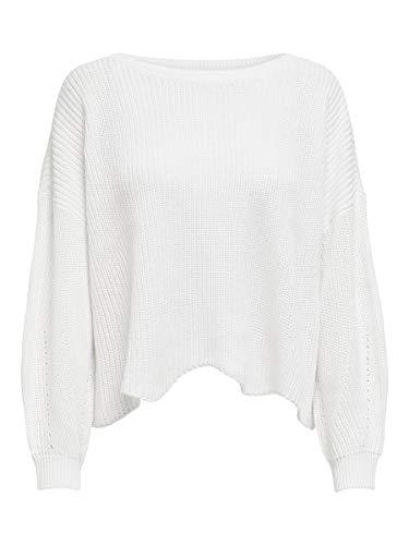 Only Onlhilde L/s Oversize Pullover CC Knt suéter, Blanco (Cloud Dancer Cloud Dancer), 40 (Talla del Fabricante: Medium) para Mujer