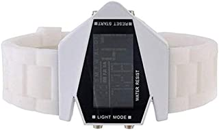 Water Resistance Military Force Sport Digital LED Watch- White