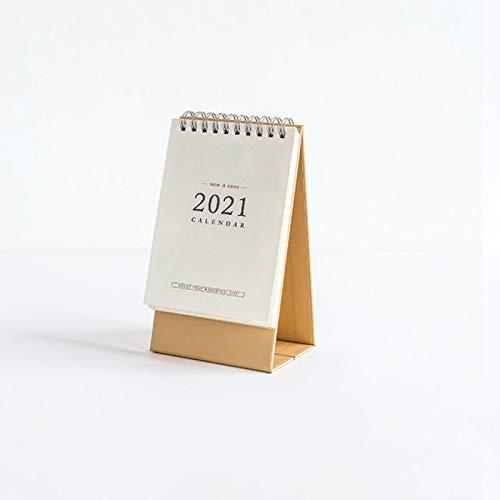 CLSMYLFB Calendario 2021, 2 unidades 2021 blanco calendario de escritorio agenda semanal mensual planificador de mesa anual agenda organizador