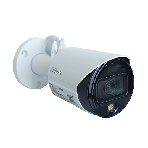 Dahua - Telecamera IP ONVIF PoE Bullet 4MP 2.8mm Full-Color Starlight Warm Led Audio Dahua - IPC-HFW2439S-SA-LED-S2