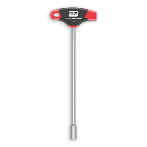 INBUS® 71925 Clé à douille à poignée en T 10mm, avec HybridTouch — Made in Germany