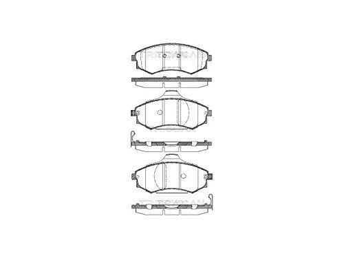 Triscan 8110 43012 Kit de plaquettes de frein, frein à disque