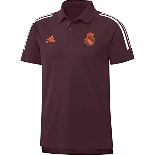 Adidas Real Madrid Temporada 2020/21 Polo UCL Oficial, Unisex, Granate, XL