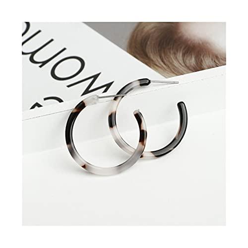 HEMOTONE Pendientes de aro de círculo Brillante de Diamantes de imitación exagerados Pendientes Grandes Rondas para Mujeres Accesorios de joyería de Moda (Metal Color : 66213)