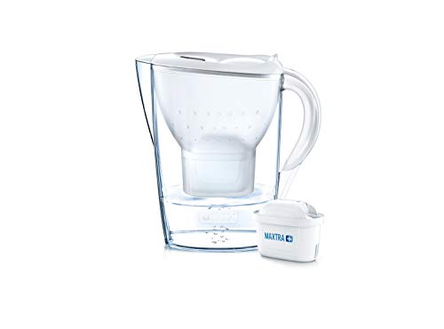 BRITA Marella German Engineered Water Filter Jug – Stylish Portable Convenient 2.4 Liters White, Ideal For Fresh and Tasty water