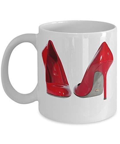 N\A Red Stiletto High Heels Kaffeetasse Kleine High Heel Kaffeetasse Geburtstag Jubiläum Weihnachten Strumpf Stuffer Heels Liebhaber Mutter Wife Freundin Schwester Frauen