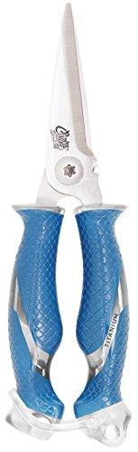 Cuda Hengelschaar - roestvrij staal - titanium geslepen - micro gekartelde - cutter - kunststof handgrepen