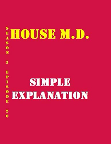 House M.D. Simple Explanation Quotes Library Decorative Birthday Gift ( 110 Page Big Size ) Notebook Collection A decorative book for coffee tables, ... design styling: Tv Show College Notebook