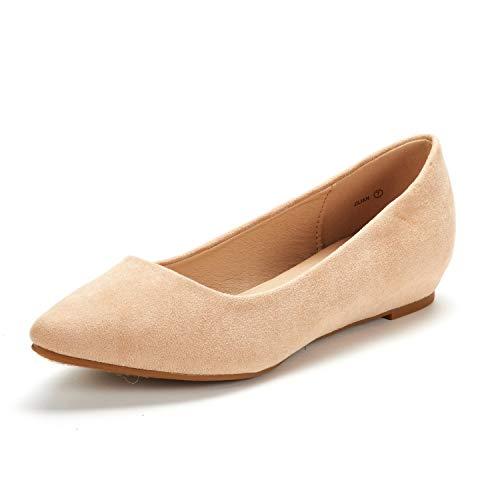 DREAM PAIRS Jilian Zapatos Planos Bailarina con Punta Cerrada para Mujer