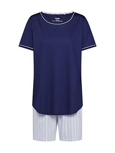 Calida Damen Sweet Dreams Pyjamaset kurz Zweiteiliger Schlafanzug, Peacoat Blue, M