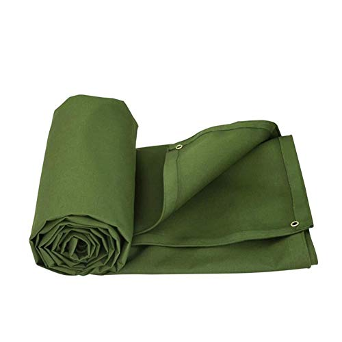 Wangcfsb Waterdicht dekzeil met hoge weerstand van verdikt katoen, UV-bescherming voor tuinmeubelen, hout, auto, tuin, camping