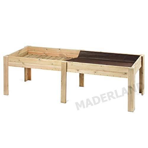 Mesa de cultivo de madera 28 mm