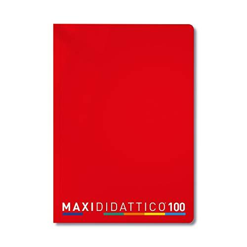 5 Quaderni Maxi Didattico, Rosso, Rigatura A