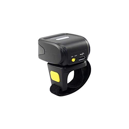 Scanner de code à barres 2D portable, support de laser à grande vitesse de laser de lecteur de code QR d'anneau sans fil à anneau portable
