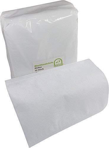 Einmal Waschhandschuhe Einmalwaschlappen molton von Medi-Inn (50 Stück)