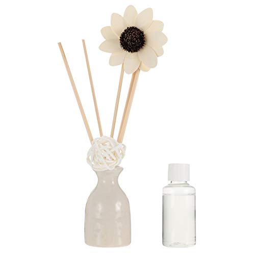 HEALLILY Difusor de Lámina de Flores Set Difusores de Aceite de Lámina de Lavanda No Fuego Ratán Aromaterapia Purificador de Aceite para Dormitorio Sala de Estar Oficina Alivio de Estrés