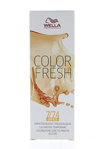 Wella Professionals Color Fresh 7/74 mittelblond braun-rot, 1er Pack (1 x 75 ml)