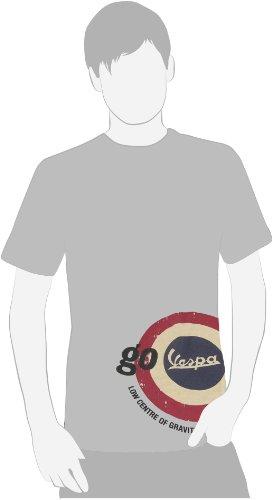 Forme T-Shirt Go Vespa hell grau, Größe: L, für Männer, Boys-Cut 100% Baumwolle, fällt klein aus