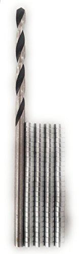 MagNetSol Magnets + Drill Bits Combo Pack (100pcs 1/16 x 1/32 inches Magnets + 1pcs 1/16 Drill Bits)