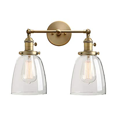 Permo Industrial Scandinavian Mini Single Sconce Antique Finished 1-Light Wall Sconce Wall Lamp