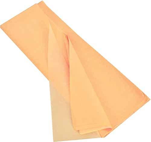 kgpack Seidenpapier 20 Blatt - Basteln Gestalten Dekorieren Tissue Papier zum Pompons Papierblumen Skizzen und Zuschnitt-Papier dünnes Papier Geschenkpapier 50 x 70 cm 17 g/qm, 20 Blatt (Pfirsich)