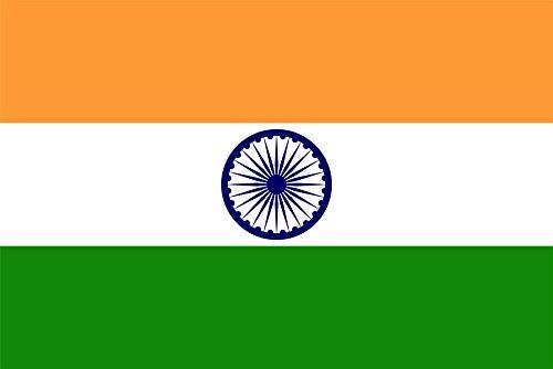 SHATCHI 5ft x 3ft Indische Landesflaggen mit Ösen für Sportveranstaltungen, Kneipen, BBQ, Banner, Tischdecke, Fußball, Cricket, WM Dekoration, für drinnen und draußen, Polyester, Dreifarbig, 5x3'
