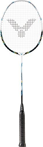VICTOR Badmintonschläger Thruster K 5000, Schwarz/Weiß/Blau, 67.4 cm, 137/5/0