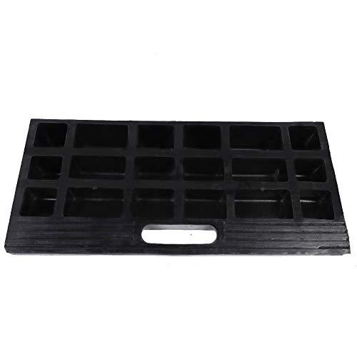 Dioche Rampa de bordillo, 2 unidades, rampas negras, portátil, de goma, para bordillos, antideslizante, 45 × 20 × 7 cm