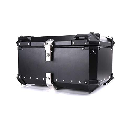 WENAN Saddle bag 45L 55L 65L Motorcycle Rear Trunk Storage Top Tool Box Waterproof Luggage Helmet Lock Toolbox Case Alumium Accessories Universal Motorcycle saddle bag (Color : 65L Black)