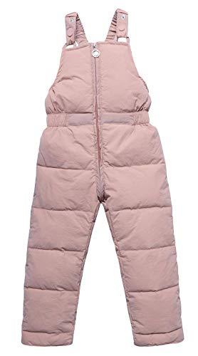 EOZY Baby Winterhose Gefüttert Jungen Mädchen Schneehose Reißverschluss Winter Overall Rosa Größe 110