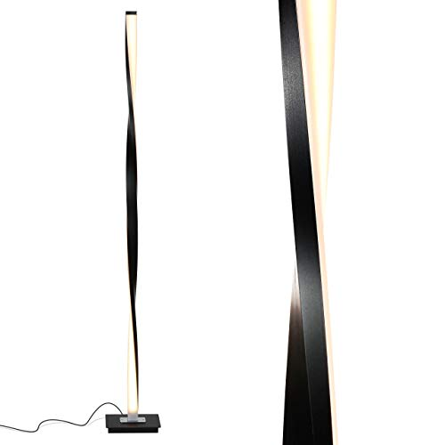 Brightech Helix - Modern LED Floor Lamp for Living Room Bright Lighting - Get Compliments: Unique, 48