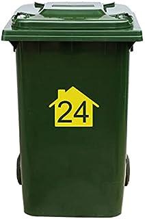 Kliko Sticker/Vuilnisbak Sticker - Nummer 24-22 x 17,5 - Geel