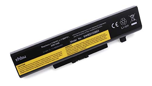 vhbw Batterie Li-Ion 6600 mAh (11,1 V) pour ordinateur portable Lenovo Z480 Serie, Z485, Z580, Z585 Serie comme 121000675, 45N1042, 45N1043, 45N1048