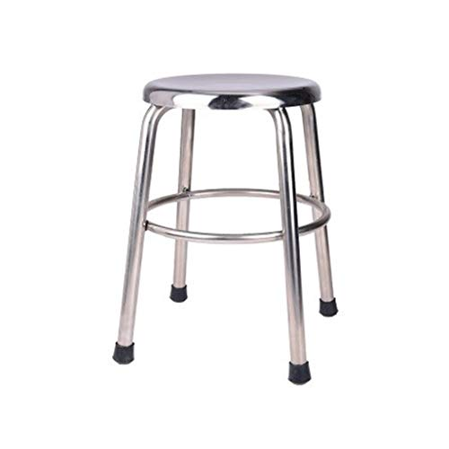 Change The Shoe Bench, Huis Stool Outdoor Kruk Balkon Kruk Medische Kruk Staafstoel, kookeiland Counter High Chair (Color : Silver, Size : 29 * 45CM)