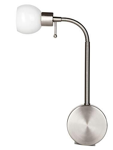 Stekkerdoos met melkglazen lampenkap | flexibel zonder kabel en installatie | dimbaar in 3 standen